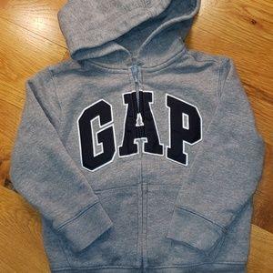 Gap Hooded Zip Up Sweatshirt Size 4T